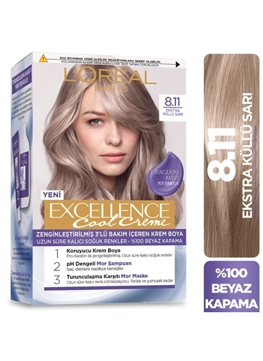 L'Oréal Paris Excellence Cool Creme Saç Boyası –,RNKSZ Renksiz